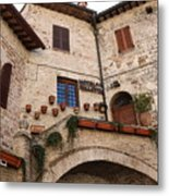 Country Charm Assisi Italy Metal Print