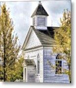 Country Church At Old World Wisconsin Metal Print