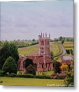 Country Church Wadsworth, England Metal Print