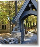 Country Churchyard Metal Print