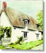 Country Cottage England  Metal Print