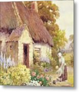 Country Cottage Metal Print