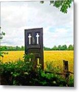 Country Crosses Metal Print