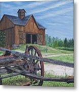 Country Farm Metal Print