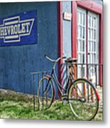 Country French Cafe Metal Print