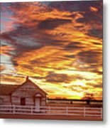 Country House Sunset Longmont Colorado Boulder County Metal Print
