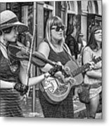 Country In The French Quarter 3 Bw Metal Print