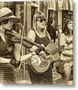 Country In The French Quarter 3 Sepia Metal Print