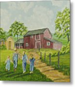 Country Kids Metal Print