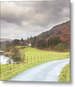 Country Lane In The Lakes Metal Print
