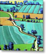 Country Lane Summer II Metal Print