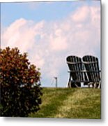 Country Life - Evening Relaxation Metal Print