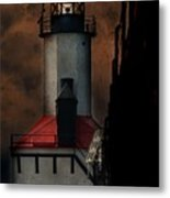 Country Lighthouse Metal Print