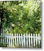 Country Picket Fence Metal Print