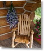 Country Porch Metal Print