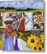 Country Quilts Metal Print