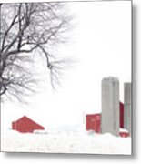 Country Red And White  Metal Print
