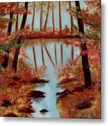 Country Reflections Metal Print