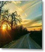 Country Road Please Take Me Home Metal Print