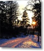 Country Road Sunset Metal Print