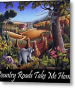 Country Roads Take Me Home T Shirt - Coon Gap Holler - Appalachian Country Landscape 2 Metal Print