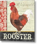 Country Rooster 2 Metal Print