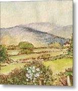 Country Scene Collection 3 Metal Print