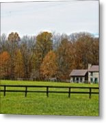 Country Side Home Metal Print