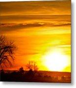 Country Sunrise 1-27-11 Metal Print