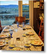 Country Table Setting Metal Print