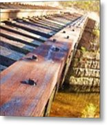 Country Train Trestle Metal Print