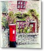 Country Village Post Box Metal Print