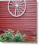 Country Wheel Metal Print