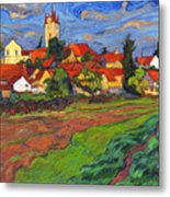 Country with the red roofs Metal Print