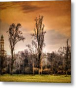 Countryscape With Bell Tower Metal Print