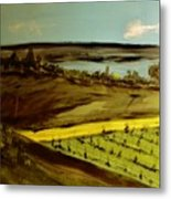 countryside/VINEYARD Metal Print by Marie Bulger