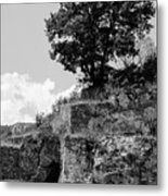Countryside Of Italy Bnw 2 Metal Print