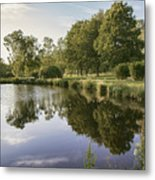 Countryside Park Pond Metal Print