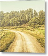 Countryside Road In Outback Australia Metal Print