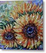 Countryside Sunflowers Metal Print
