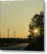 Countryside Sunset Metal Print