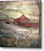County Farm In Fall Metal Print