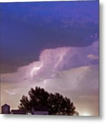 County Line Northern Colorado Lightning Storm Metal Print
