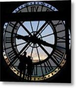 Couple And Clock D'orsay Museum Paris Metal Print