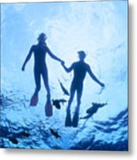 Couple At The Surface Metal Print
