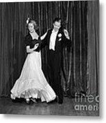 Couple Ballroom Dancing On Stage Metal Print
