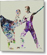Couple Dancing Ballet Metal Print