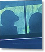 Couple In The Truck Metal Print