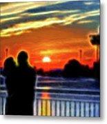 Romantic Sunrise. Metal Print