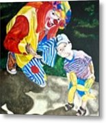 Couple Of Clowns Metal Print